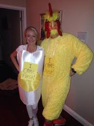 Egg Halloween Costume Chicken Egg Homemade Halloween Couples Costumes