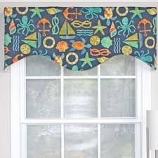 Turquoise Valances For Windows Inspiration Nautical Valances U0026 Kitchen Curtains You U0027ll Love