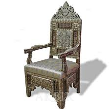 Moroccan Chair Mediterranean Levantine U0026 Syrian Furniture Inlaid With Mother Of