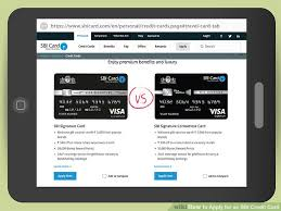 Personal Credit Card For Business Expenses How To Apply For An Sbi Credit Card With Pictures Wikihow