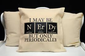 nerdy home decor chemistry pillow science pillow novelty throw pillow pillow