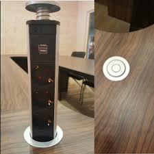 new pop up electrical power outlet socket kitchen desk worktop 2