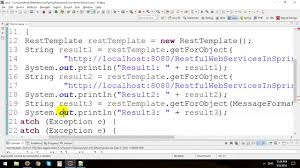 tutorial java spring hibernate consume java restful web services in spring framework youtube