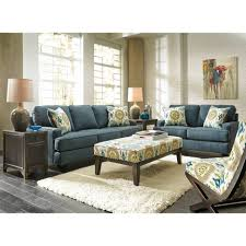 Livingroom Chair Brown And Blue Accent Chair Atme