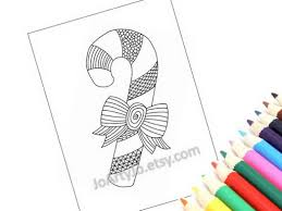 coloring page christmas holiday zentangle inspired candy cane