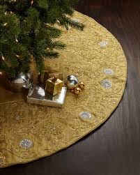 gold tree skirt sudha pennathur gold beaded christmas tree skirt