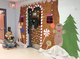 gingerbread house for door decorating contest christmas