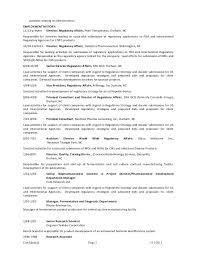 Regulatory Affairs Associate Resume Resume 03 31 2015