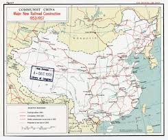 Detailed Map Of China by Large Detailed Major New Railroad Construction Map Of Communist