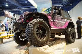 pink jeep grand cherokee 2016 sema bestop project pink jeep jk wrangler
