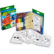 crayola mini coloring pages 80pgs 6ct markers finding dory