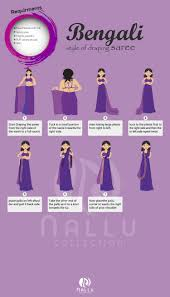 How To Draping How To Wear Saree In Bengali Style Visual Ly