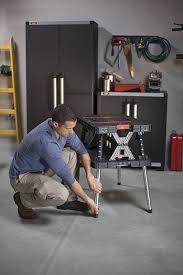 keter folding work table ex amazon com keter folding compact adjustable workbench sawhorse work