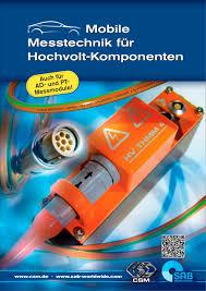 K Henkatalog Mobile Messtechnik Für Hochvolt Komponenten Sab Broeckskes Gmbh