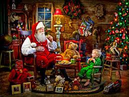 santa s visit jigsaw puzzle puzzlewarehouse