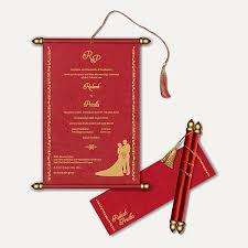 weddings cards scroll indian wedding cards tbrb info