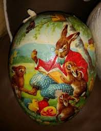 vintage paper mache easter eggs vintage large paper mache candy container easter egg with colorful