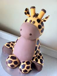 giraffe baby shower cakes 3d sculpted giraffe baby shower cake s cakes