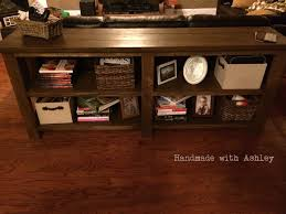 rustic x console table diy rustic x console plans by ana white handmade with ashley