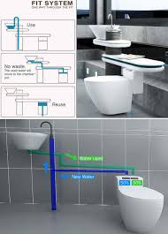water saving all in one integrated toilets of the future