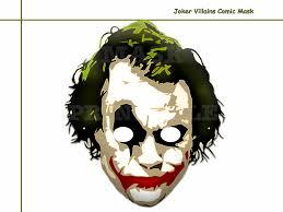 unique joker villains comic printable mask kids dress up