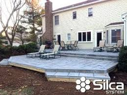 silca system transforming wood decks to stone deckssilca system