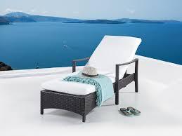 patio lounge chair brown wicker vasto beliani com