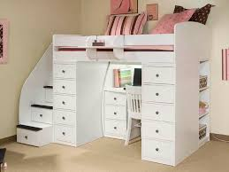 white bunk beds with stairs and desk u2014 all home ideas and decor
