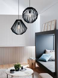 Beacon Lighting Pendant Lights Walderik Large Squat Pendant In Black Modern Pendants Pendant