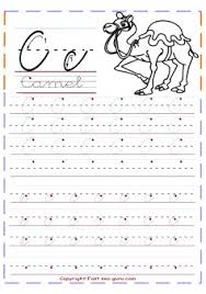 printable cursive tracing handwriting practice worksheets letter c