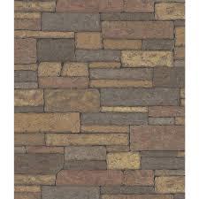 brewster northwoods lodge adobe brown stone wall wallpaper sample