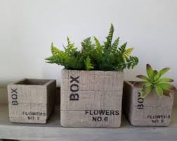 Rectangular Terracotta Planters by Clay Planter Etsy