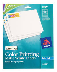 amazon com avery matte white color printing labels for inkjet