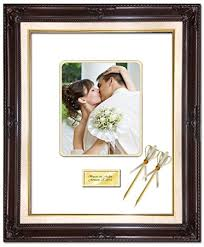 personalized wedding photo frame 20 x 24 personalized wedding picture frame with 2