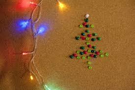 lighted christmas tree garland photo of lighted garland and christmas tree made of pins free