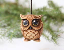 owl ornament etsy