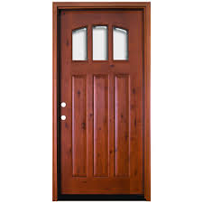 Knotty Alder Interior Door by Steves U0026 Sons 36 In X 80 In Craftsman 3 Lite Arch Stained Knotty