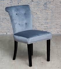Velvet Vanity Chair Grey Velvet Studded Dressing Table Chair