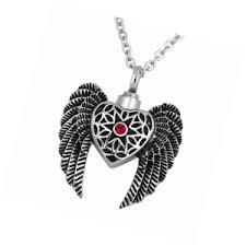 ashes pendant charmsstory heart keepsake ashes pendant angel wings cremation