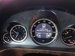 coolant warning light bmw help with coolant level on 2011 cpo e350 mbworld org forums