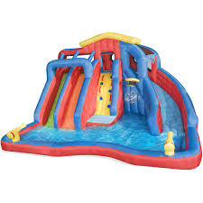 inflatable water slide bounce house backyard pool kids bouncer