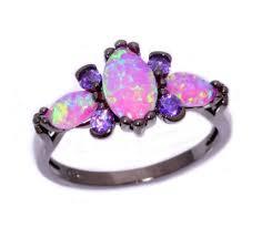 black ring pink opal amethyst black ring zen like products