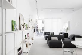 Modern Minimalist Apartment Interior Design With White And Gray - Minimalist apartment design