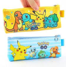 Dstockage Papeterie Pikachu Aller Poche Monstre Grande Capacité Crayon Sac De Stockage