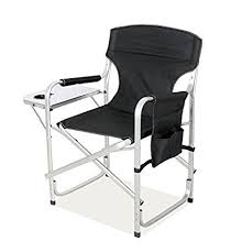 Folding Directors Chair With Side Table Snail Heavy Duty Aluminum Frame Back Foldable