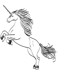 rearing unicorn coloring free printable coloring pages