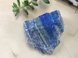 Decorative Crystal Rocks Rough Lapis Lazuli Crystal Large Lapidary Crystal Altar Stone