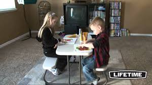 Lifetime Folding Picnic Table Instructions by Lifetime Kids Picnic Table Almond Model 80094 Youtube