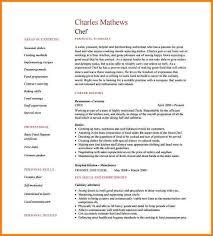 chef resume templates 12 sle resume chef based resume