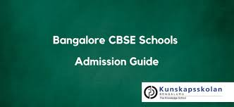 bangalore cbse schools admission guide 2018 19